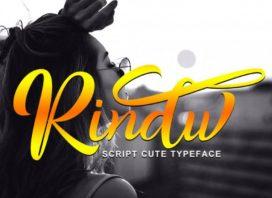 Rindu Calligraphy Typeface