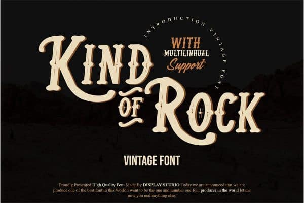 Kind Of Rock Display Font