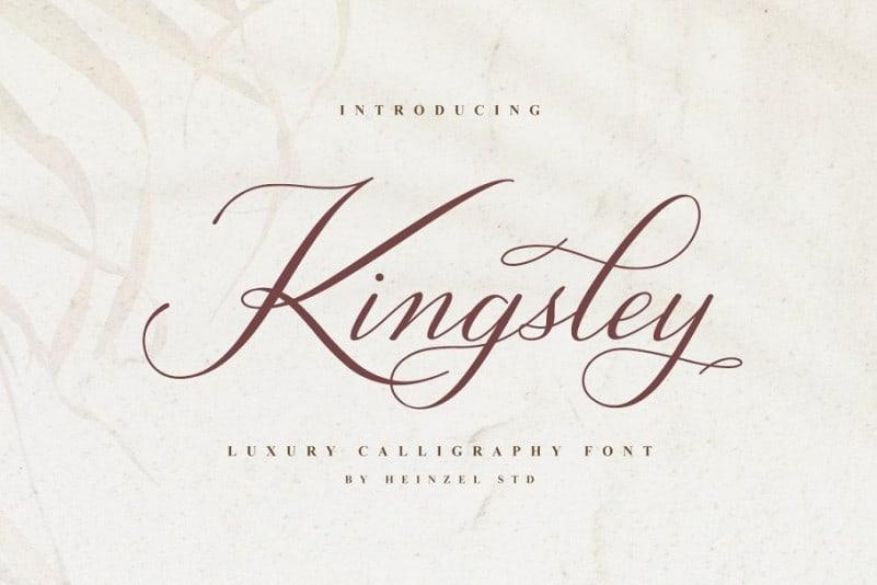 Kingsley Calligraphy Font