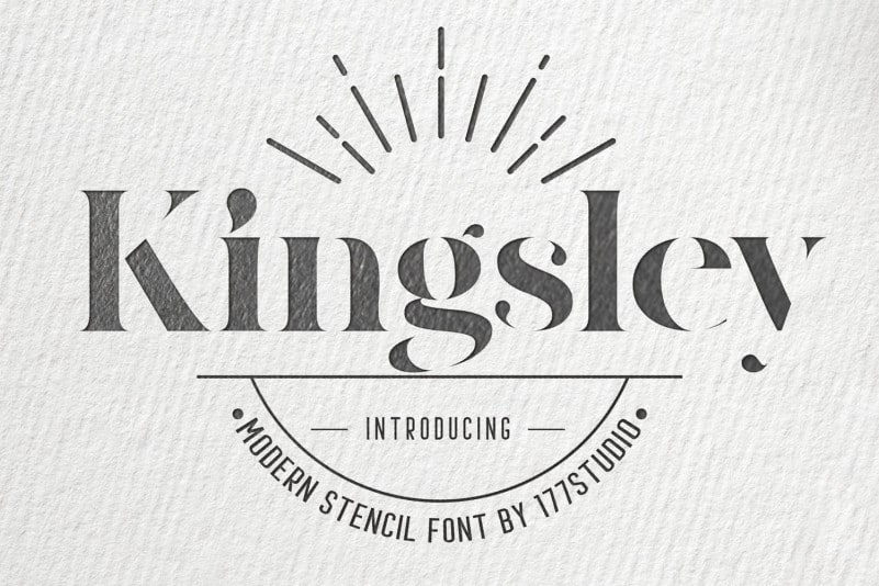 Kingsley - Modern Stencil Font