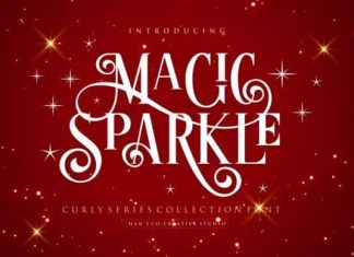 Magic Sparkle Display Font