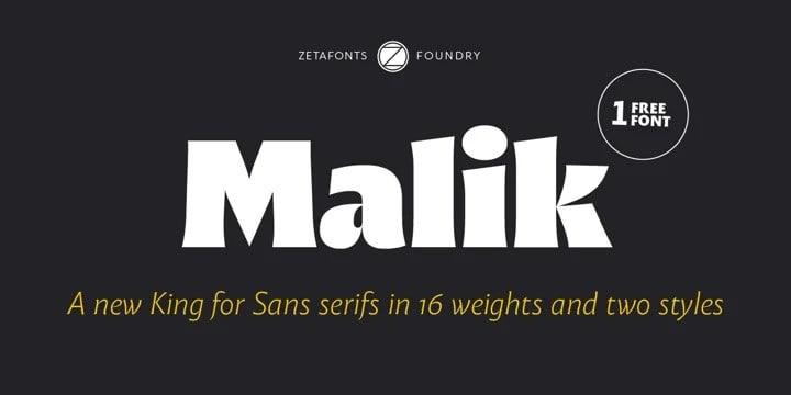 Malik Serif Font