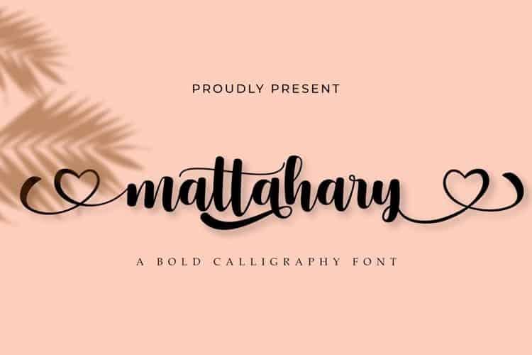 Mattahary Calligraphy Font