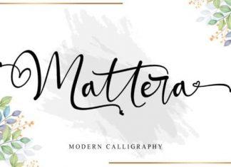 Mattera Calligraphy Font