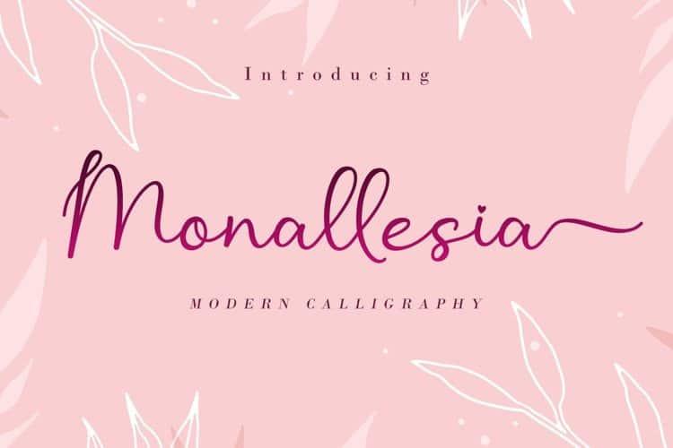 Monallesia Calligraphy Font
