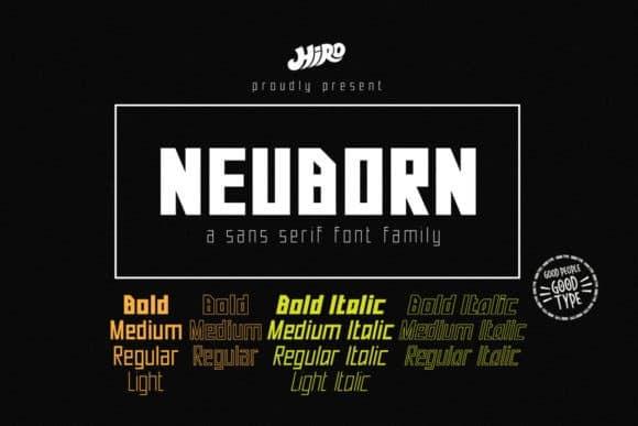 Neuborn Display Font