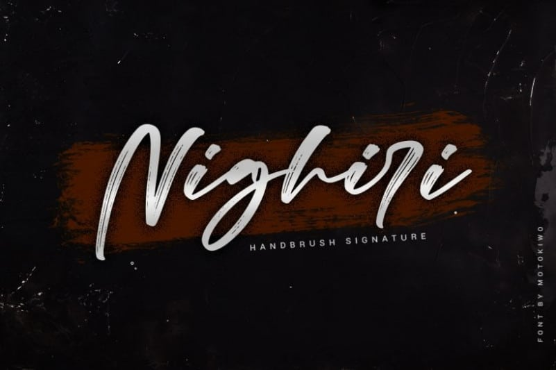 Nighiri Brush Font
