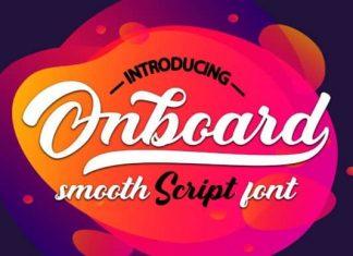 Onboard Script Font