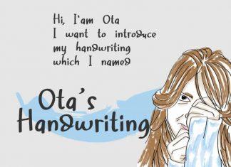 Ota's Handwriting Font
