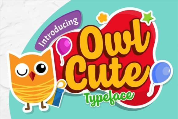 Owl Cute Script Font