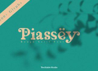 Piassey Rough Serif Font