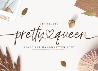 Pretty Queen Brush Font
