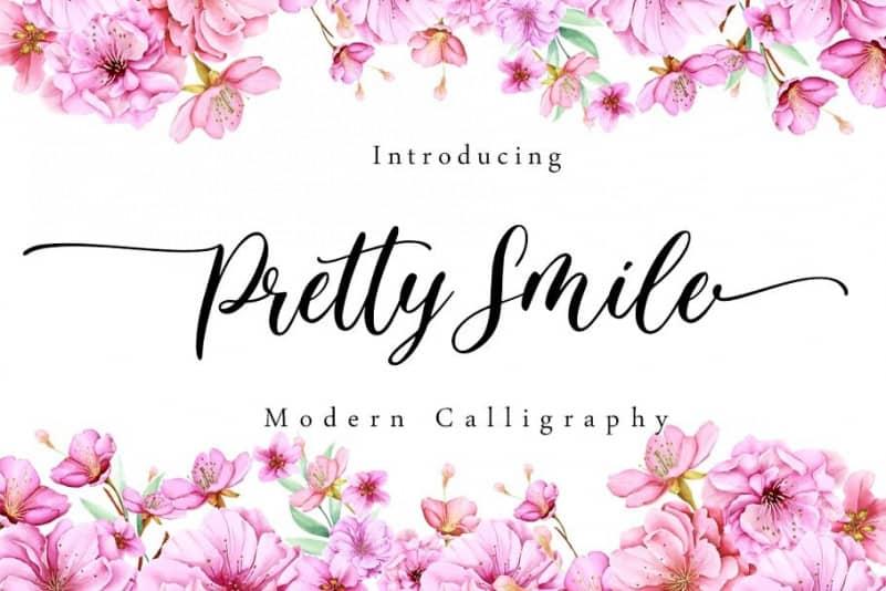 Pretty Smile Calligraphy Font