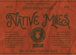 Native Miles Vintage Font