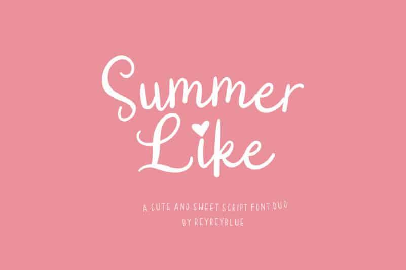 Summer Like Font Duo