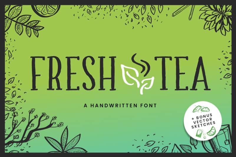 Fresh Tea - A fancy handwritten font