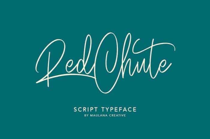 Red Chute Handwritten Font
