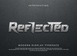 Reflected Display Font