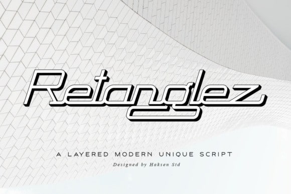 Retanglez Display Font