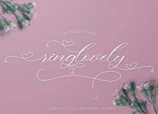 Ringlovely Calligraphy Font