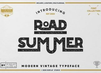 Road Summer Display Font