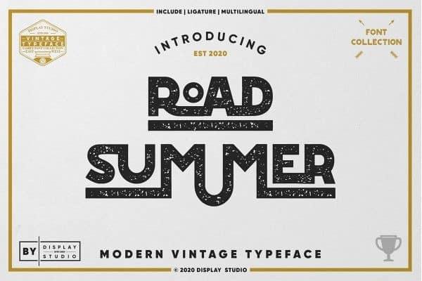 Road Summer Display Font