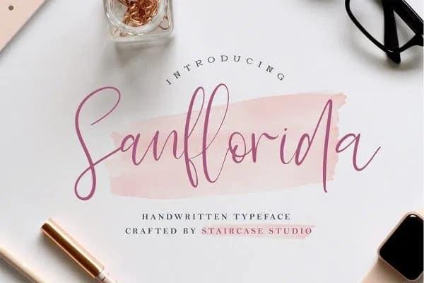 Sanflorida Script Font