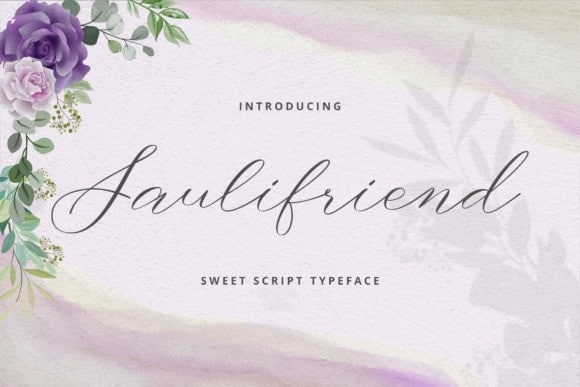 Saulifriend Calligraphy Font