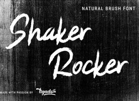 Shaker Rocker Brush Font