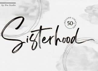 Sisterhood Brush Font