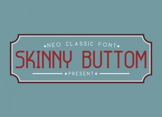Skinny Buttom Display Font