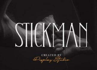 Stickman Display Font