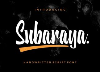 Subaraya Script Font
