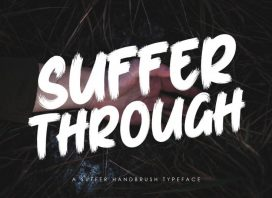 Suffer Through Brush Font