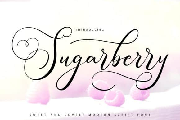 Sugarberry Calligraphy Font