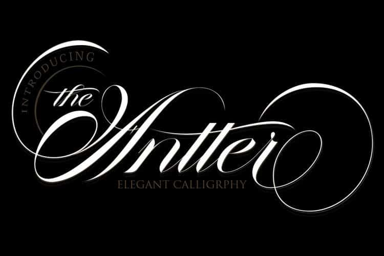 The Antter Calligraphy Font