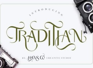 Traditian Display Font