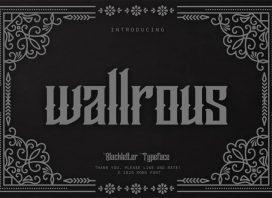 Wallrous Blackletter Font
