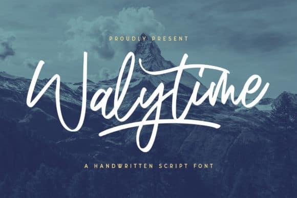 Walytime Script Font