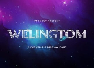 Welingtom Display Font