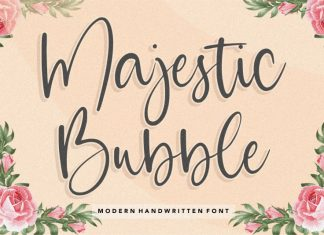 Majestic Bubble Handwritten Font