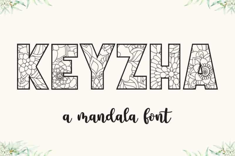 KEYZHA - Mandala Font