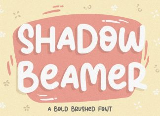 Shadow Beamer Bold Brushed Font