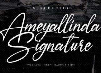Ameyallinda Signature Font