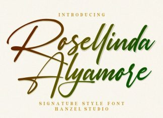 Rosellinda Alyamore Handwritten Font