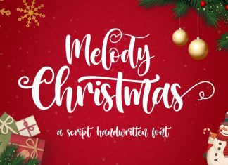 Melody Christmas Calligraphy Font