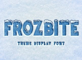 FROZBITE Display Font