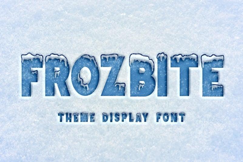 FROZBITE Display Font