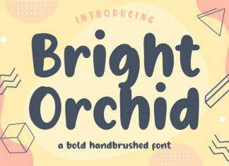 Bright Orchid Bold Handbrushed Font