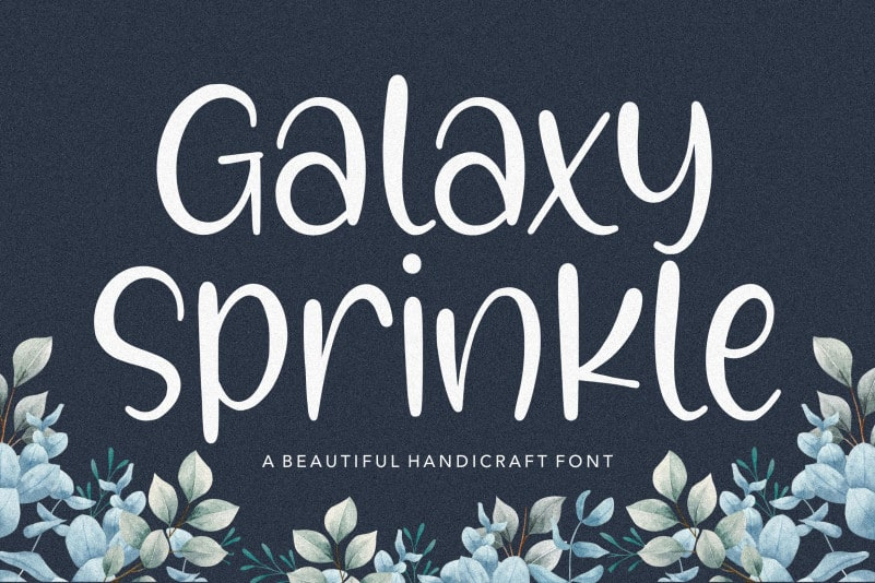 Galaxy Sprinkle Beautiful Handcraft Font